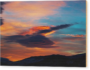 Glorious Morning- Helena Mt Wood Print by Kevin Bone