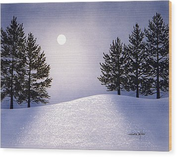 Glorious Night Wood Print by Frank Wilson