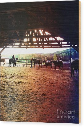 Wood Print featuring the photograph Glory In Horses by J Ferwerda