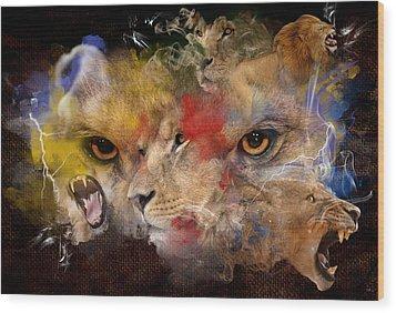 Glory Of The Beast Wood Print by Davina Washington