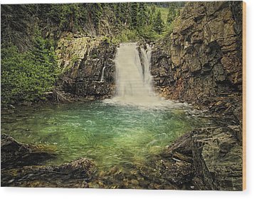 Wood Print featuring the photograph Glory Pool by Priscilla Burgers
