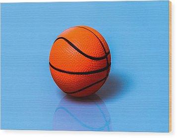 Glory To Basketball Wood Print by Alexander Senin