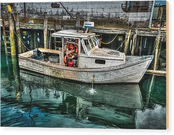 Gloucester Boat Wood Print by Fred LeBlanc