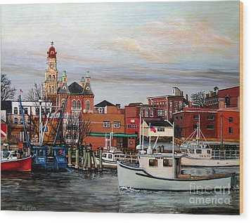 Gloucester Harbor Wood Print