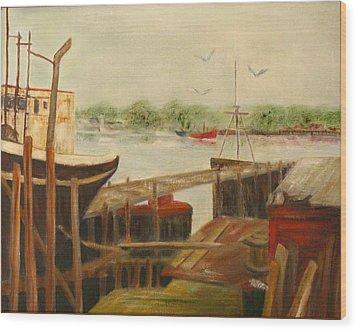 Gloucester Wood Print