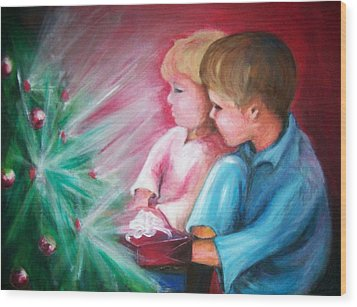 Glow Of Christmas Wood Print by Martha Suhocke