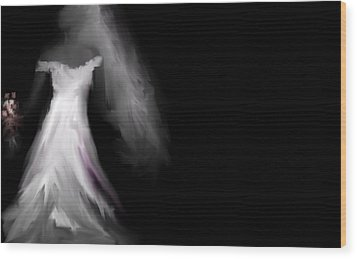 Wood Print featuring the digital art Glowing Bride by Jessica Wright