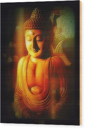 Wood Print featuring the photograph Glowing Buddha by Paul Cutright