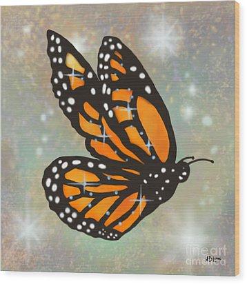 Glowing Butterfly Wood Print by Audra D Lemke