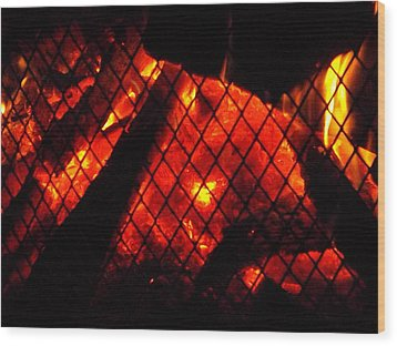 Wood Print featuring the photograph Glowing Embers by Darren Robinson