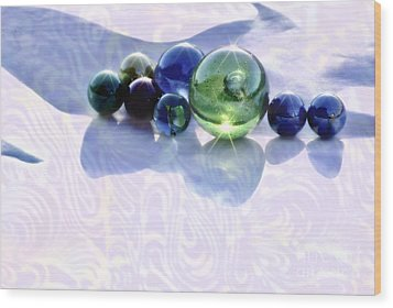Wood Print featuring the photograph Glowing Marbles by Cynthia Lagoudakis