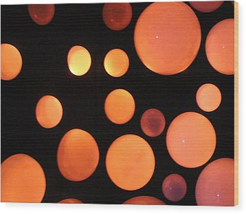 Glowing Orange Wood Print by Tiffany Erdman