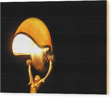 Glowing Shell Wood Print by Jhoy E Meade