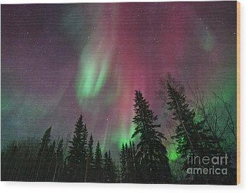 Glowing Skies Textured Wood Print by Priska Wettstein