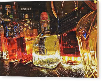 Glowing Spirits Wood Print