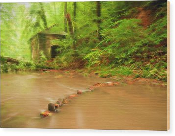 Wood Print featuring the photograph Glowing Stream by Maciej Markiewicz