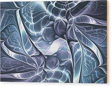 Glowing Structure Wood Print by Anastasiya Malakhova