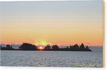 Wood Print featuring the photograph Glowing Sunset by Richard Zentner