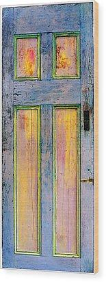 Glowing Through Door Wood Print by Asha Carolyn Young