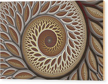 Glynn Spiral No. 2 Wood Print by Mark Eggleston