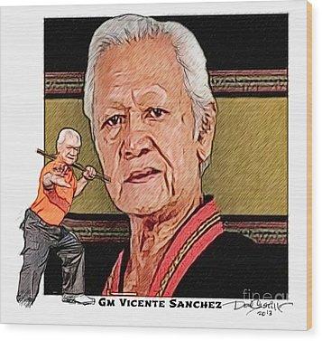 Gm Vicente Sanchez Wood Print by Donald Castillo