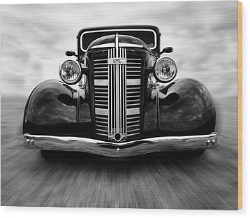 Gmc On The Move Wood Print by Keith Hawley