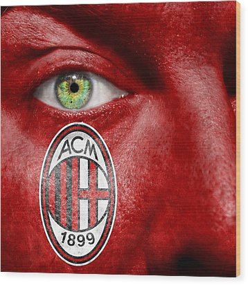 Go Ac Milan Wood Print by Semmick Photo