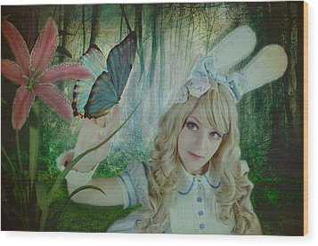 Go Ask Alice Wood Print by Christine Holding
