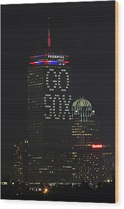 Go Boston Red Sox Wood Print by Juergen Roth