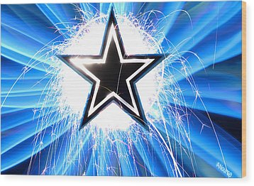 Go Cowboys Wood Print