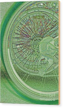 Go Green 1 By Jrr Wood Print by First Star Art