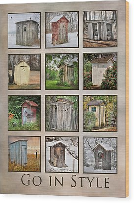 Go In Style - Outhouses Wood Print