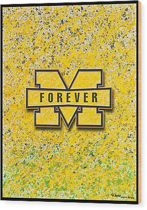 Go Michigan Wood Print by Lance Graves