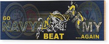 Go Navy Beat Army Wood Print