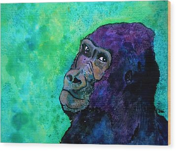 Go Sit In Time Out Wood Print by Debi Starr