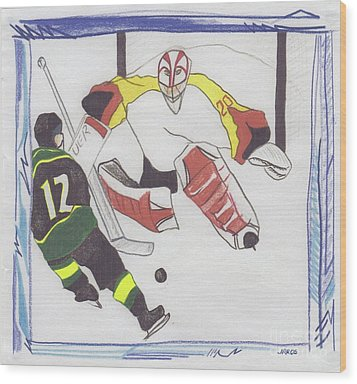 Wood Print featuring the drawing Shut Out By Jrr by First Star Art