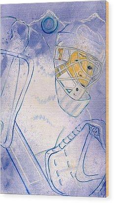 Goalie Missed Wood Print by Rosemary Hayes