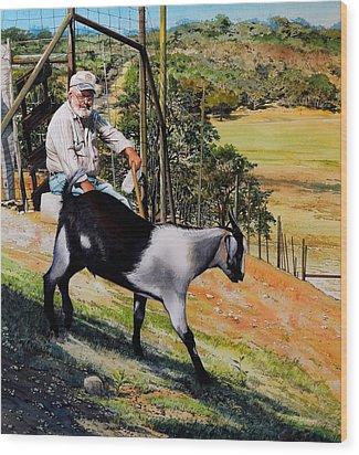 Goat Man Wood Print