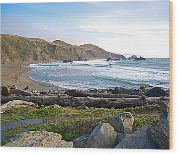 Goat Rock State Beach On The Pacific Ocean Near Outlet Of Russian River-ca  Wood Print by Ruth Hager