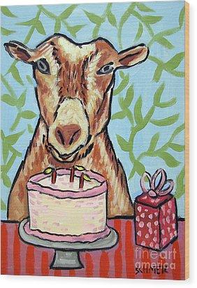 Goat's Birthday Wood Print by Jay  Schmetz