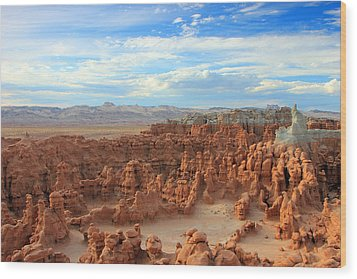 Goblin Valley Wood Print by Johnny Adolphson