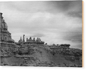 Goblin Valley Wood Print by Tarey Potter