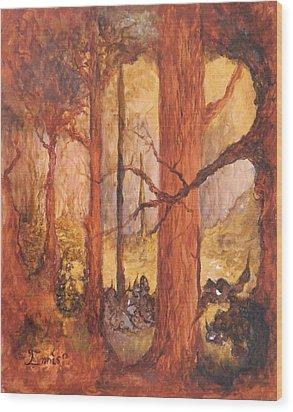 Goblins' Glen Wood Print