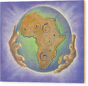 God Bless Africa Wood Print