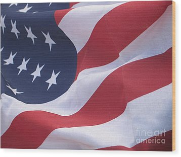 Wood Print featuring the photograph God Bless America by Chrisann Ellis