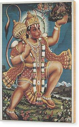 God Hanuman. Hindu Art. � Aisaeverett Wood Print by Everett