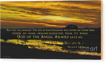 God Of Angel Armies Wood Print by Constance Woods