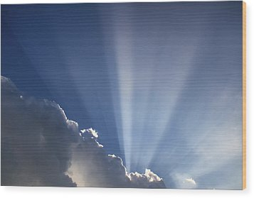 God Rays Wood Print