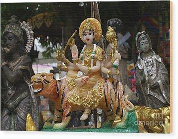 Goddess Durga Wood Print by Gregory Smith