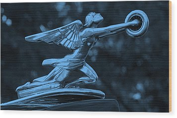 Wood Print featuring the photograph Goddess Hood Ornament  by Patrice Zinck